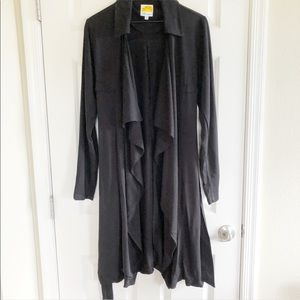 C&C California black duster trench jacket small S